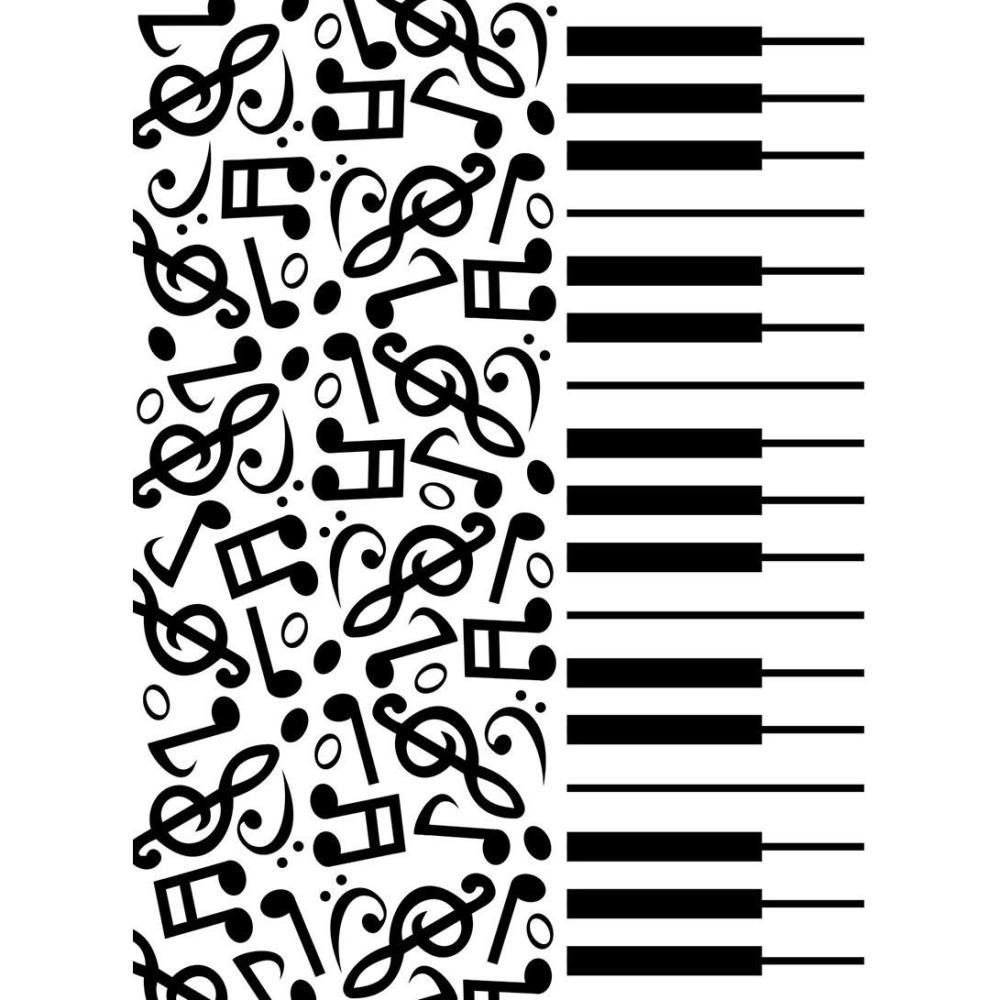 EMBOSSING FOLDER PIANO NOTES