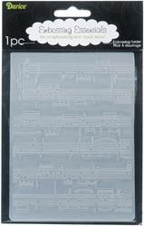 EMBOSSING FOLDER SHEET MUSIC