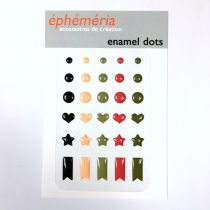 ENAMEL DOTS - Plume