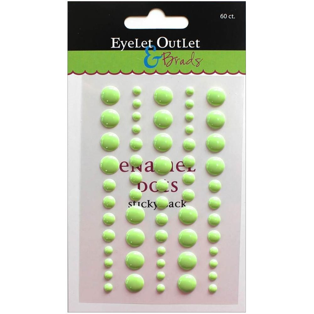 ENAMEL DOTS GREEN