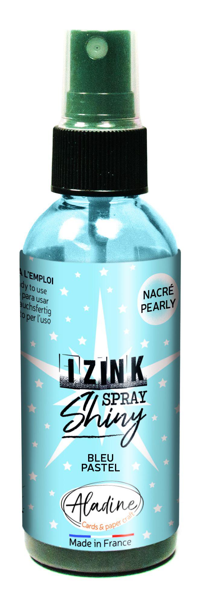 ENCRE IZINK AUX REFLETS NACRES - Bleu Pastel