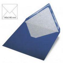 Enveloppe 14x14 cm, 120g, bleu royal
