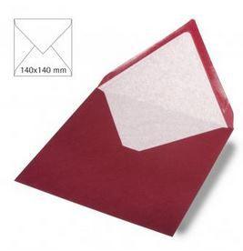 Enveloppe 14x14 cm, 90g, bordeaux