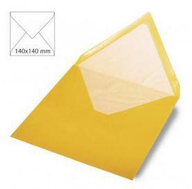 Enveloppe 14x14 cm, 90g, jaune soleil