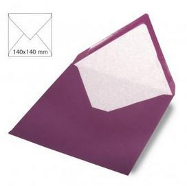 Enveloppe 14x14 cm, 90g, purple velvet