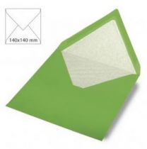 Enveloppe 14x14 cm, 90g, vert éternel