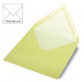 Enveloppe 14x14 cm, 90g, vert pastel