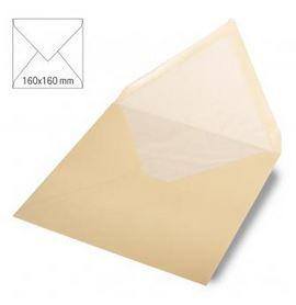 Enveloppe 16x16 cm, 90g, beige