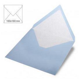 Enveloppe 16x16 cm, 90g, bleu layette