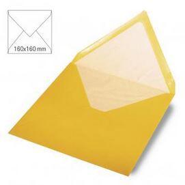 Enveloppe 16x16 cm, 90g, jaune soleil