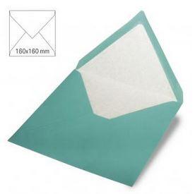 Enveloppe 16x16 cm, 90g, turquoise