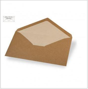 Enveloppe 22x11 cm, 110g, kraft