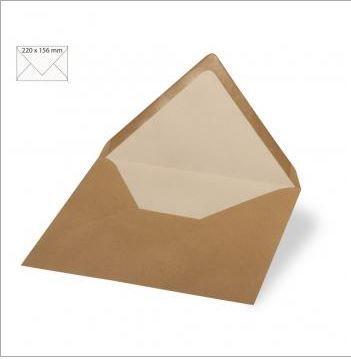 Enveloppe 22x15.6 cm, 110g, kraft