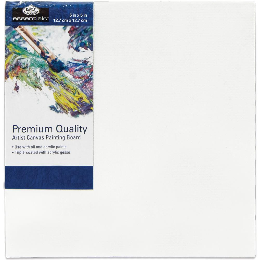 "Essentials Premium Canvas Board 5""X5\"""