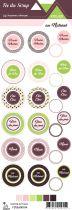 Etiquette atelier Lydie au naturel - ronds avec mots