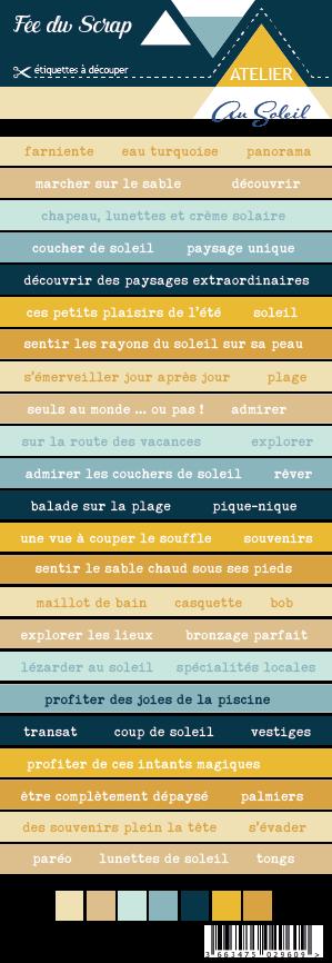 Etiquette atelier Lydie au soleil - étiquettes bandes de mots