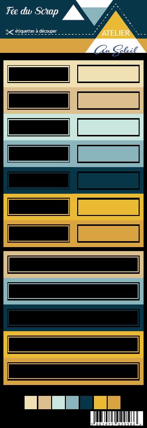Etiquette atelier Lydie au soleil - étiquettes rectangles