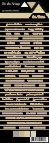 étiquette Carterie fond blanc écriture beige foncé