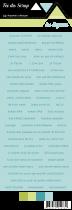 étiquette Carterie fond turquoise écriture turquoise foncé