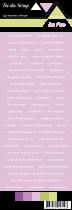 étiquette Carterie fond violet clair