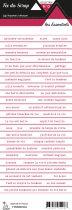 étiquette les essentiels bandes de mots groseille romantique