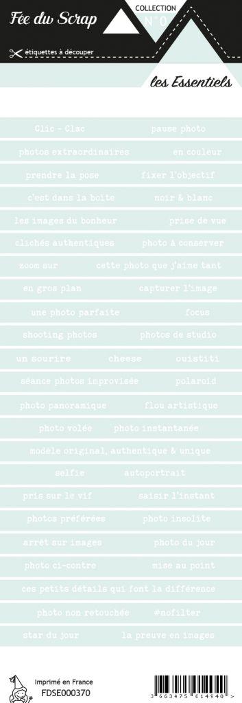 étiquette les essentiels bandes de mots lagon clair hivernal