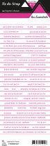 étiquette les essentiels bandes de mots rose chic