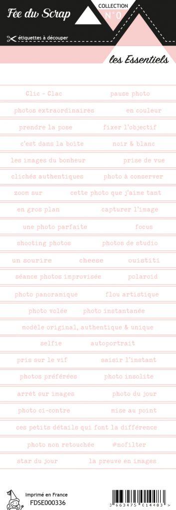 étiquette les essentiels bandes de mots rose printanier