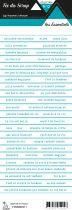 étiquette les essentiels bandes de mots turquoise chic