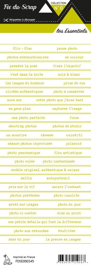 étiquette les essentiels bandes de mots vert chaleureux