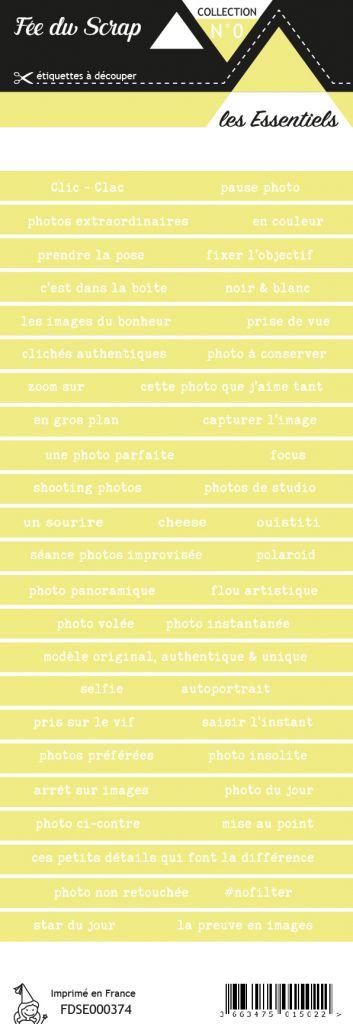 étiquette les essentiels bandes de mots vert pâle chic