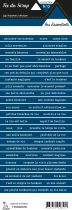 étiquette les essentiels bleu foncé bandes de mots
