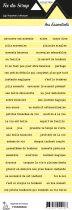 étiquette les essentiels jaune pale bandes de mots