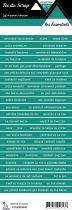 étiquette les essentiels lagon 3 bandes de mots