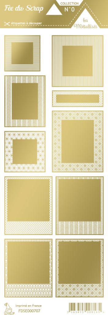étiquette les essentiels métallisés cadres or