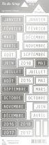 étiquette les essentiels métallisés mois argent