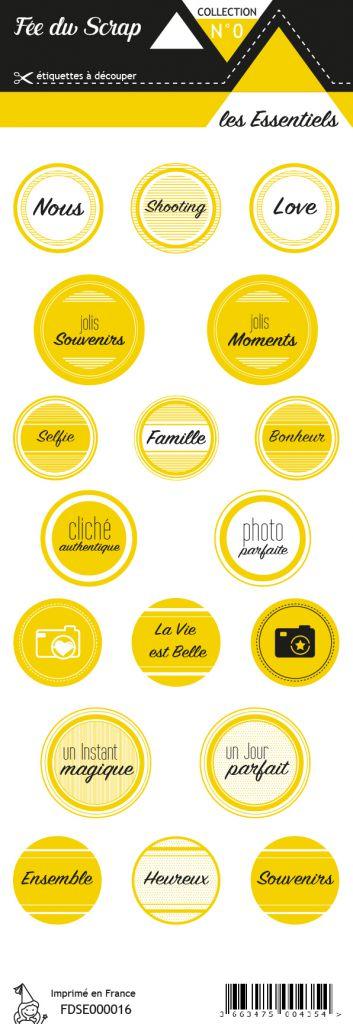 étiquette les essentiels moutarde étiquettes rondes