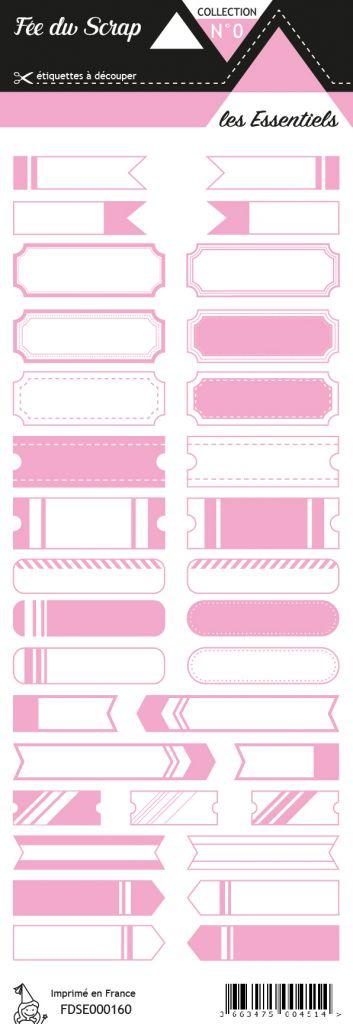 étiquette les essentiels rose étiquettes tickets