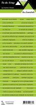 étiquette les essentiels vert bandes de mots
