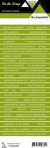 étiquette les essentiels vert foncé bandes de mots