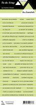 étiquette les essentiels vert pale bandes de mots