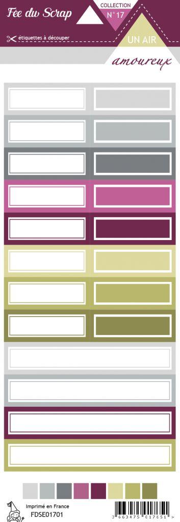 étiquette un air amoureux étiquettes rectangles