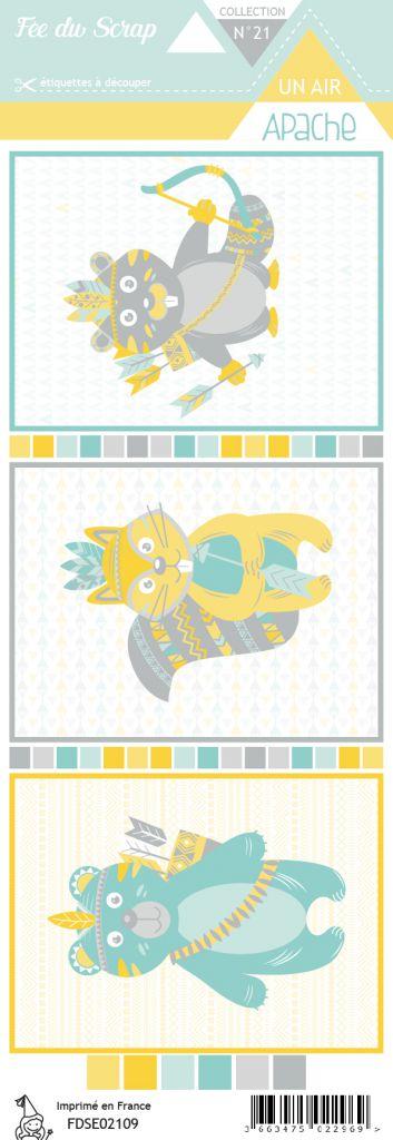 Etiquette un air apache cartes animaux 1