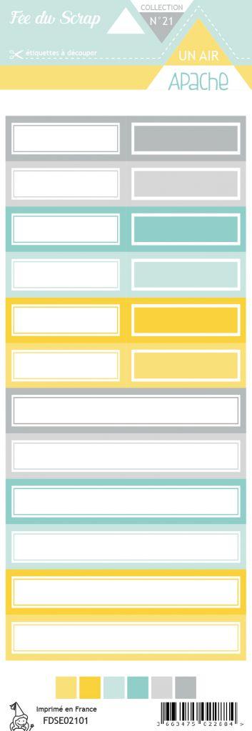 Etiquette un air apache étiquettes rectangles