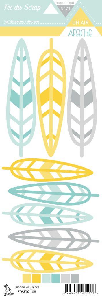 Etiquette un air apache plumes