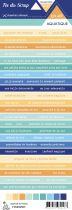 Etiquette un air aquatique - Bandes de mots