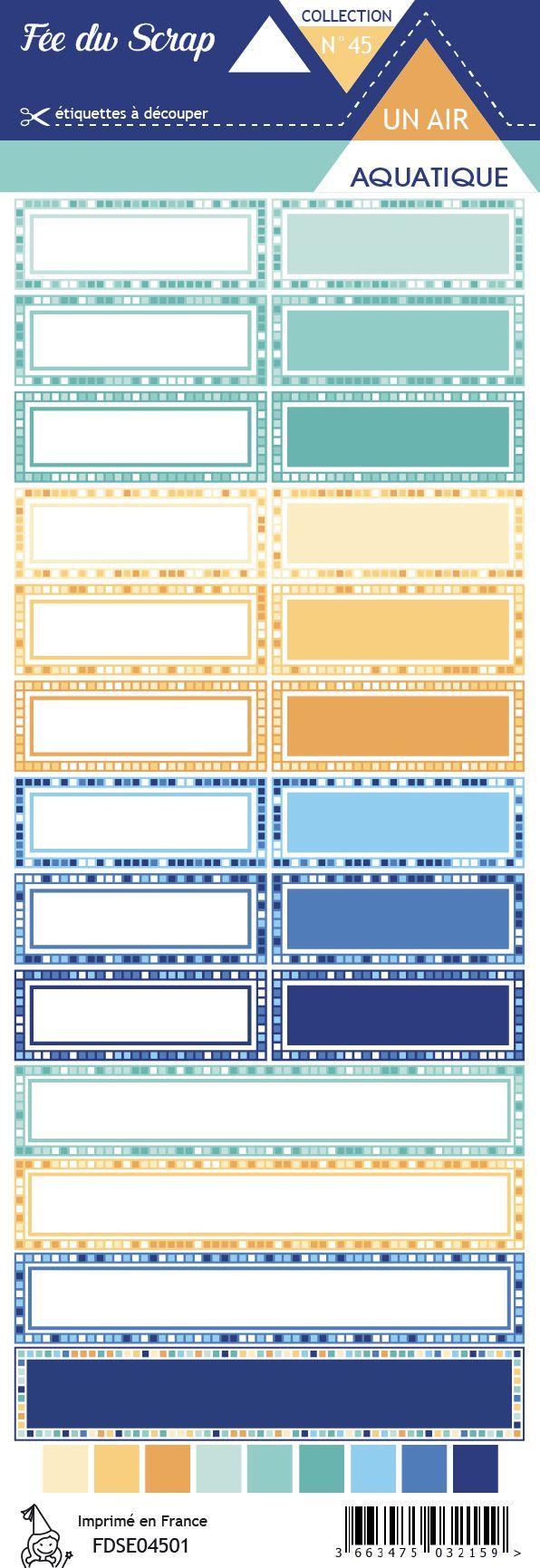 Etiquette un air aquatique - Etiquettes rectangles