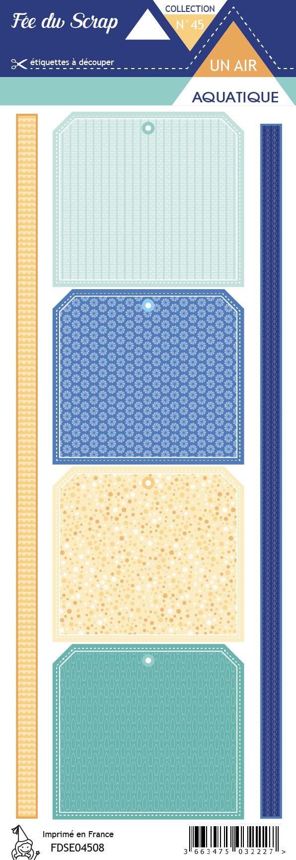 Etiquette un air aquatique - Tags