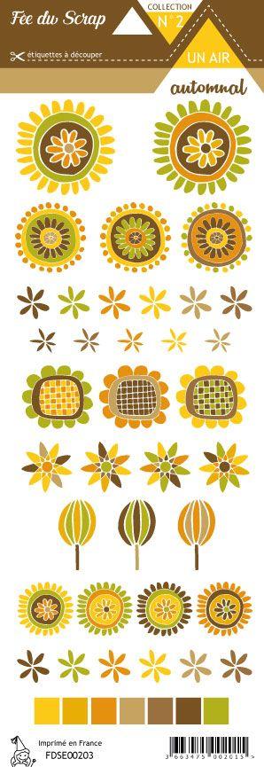 étiquette Un air automnal fleurs