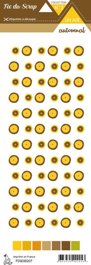 étiquette Un air automnal oranges